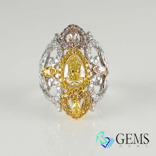 (售出)GIA認證彩鑽 天然真鑽 黃鑽 1.35克拉 個性 禮物 Radiant Gems閃亮寶石
