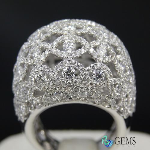 (售出)天然白淨真鑽 窗花 精美閃耀白鑽戒 Radiant Gems閃亮寶石