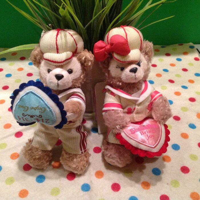 =優生活=【情人節版本】日本東京迪士尼Duffy達菲熊ShellieMay 雪莉玫 14cm站熊 鑰匙圈 吊飾 絨毛娃娃 玩偶