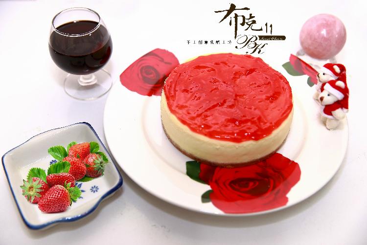 【布克11手工創意乳酪工坊 】甜心草莓重乳酪(6吋/1個)
