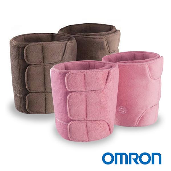 【歐姆龍OMRON】振動式小腿按摩器 HM-252(共兩色:褐/粉紅),贈品:晶透便利環保筷x1