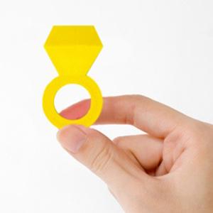 『ERASER+ING 戒指橡皮擦』 黃色