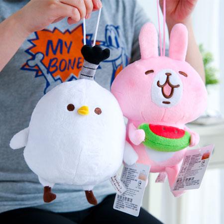 正版卡娜赫拉掛繩娃娃 6吋 吊飾 吊繩 娃娃 玩偶 兔子 小兔兔 貓咪 P助 小雞 Kanahei【B062320】