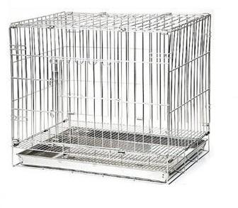 2尺 不鏽鋼 不銹鋼 活動雙門折疊式/摺疊式 白鐵貓籠 狗籠/兔籠/寵物籠 台灣製造
