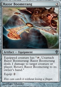 【Playwoods】 MTG 魔法風雲會 WWK No. 129 Razor Boomerang 鋒刃迴力鏢 UC卡(白卡非普無色神器)