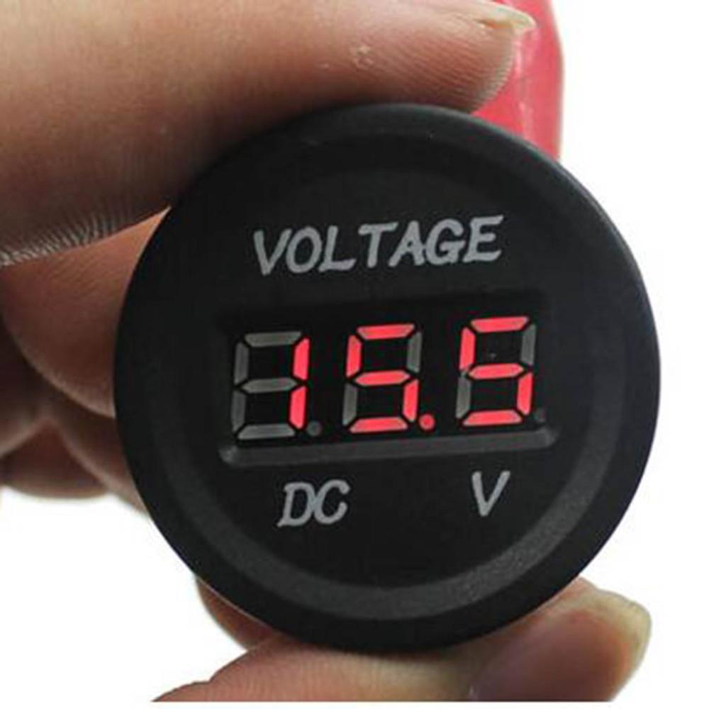 專業12V-24V汽車機車LED直流數位電壓表的防水錶反向連接保護