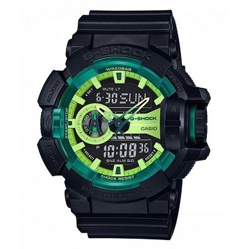 CASIO G-SHOCK GA-400LY-1A萊姆綠雙顯腕錶/綠面55mm