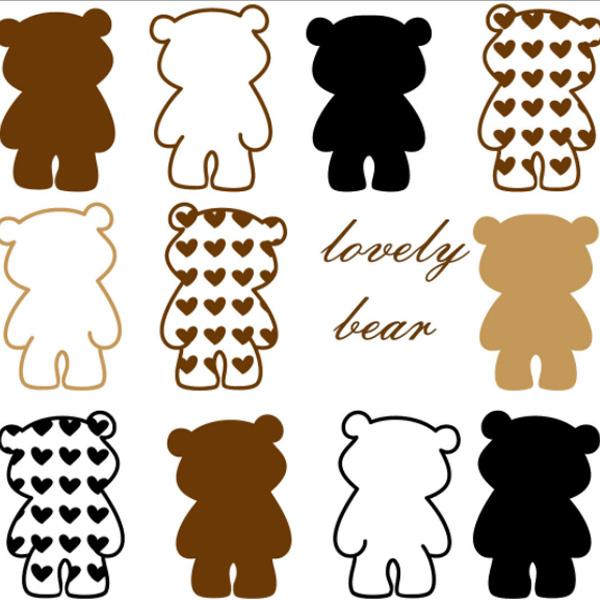 Loxin☆創意可移動壁貼 愛心lovely小熊【BF0867】DIY組合壁貼/壁紙/牆貼/背景貼/裝飾佈置/室內設計裝潢/客廳臥室浴室