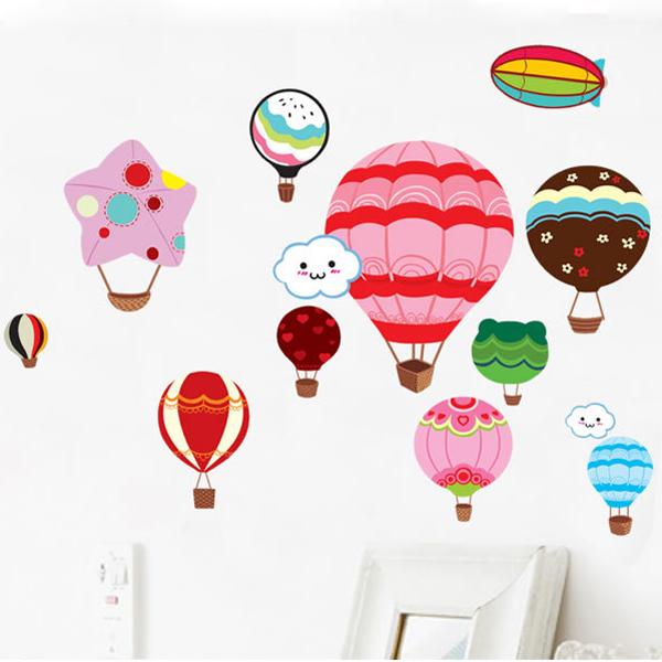 Loxin☆創意可移動壁貼 熱氣球【BF0917】DIY組合壁貼/壁紙/牆貼/背景貼/裝飾佈置/室內設計裝潢/客廳臥室浴室
