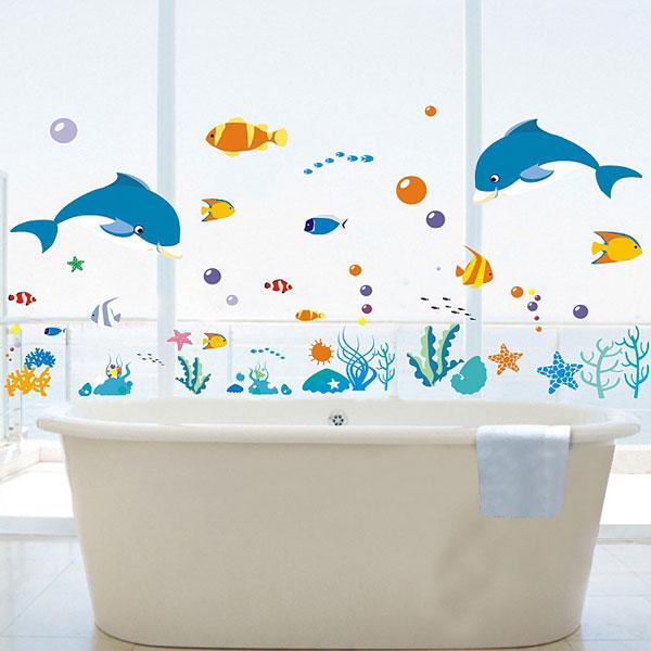 Loxin☆創意可移動壁貼 海洋世界【BF0982】可愛壁貼/壁紙/牆貼/背景貼/裝飾佈置/室內設計裝潢/客廳臥室浴室