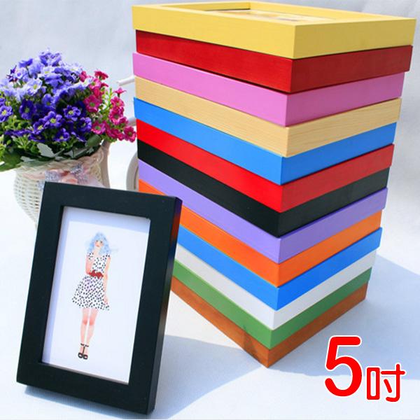 Loxin☆5吋壁掛式實木相框【SB0934】適合3x5吋照片 多色可選 木質相框/相框牆/壁貼/照片