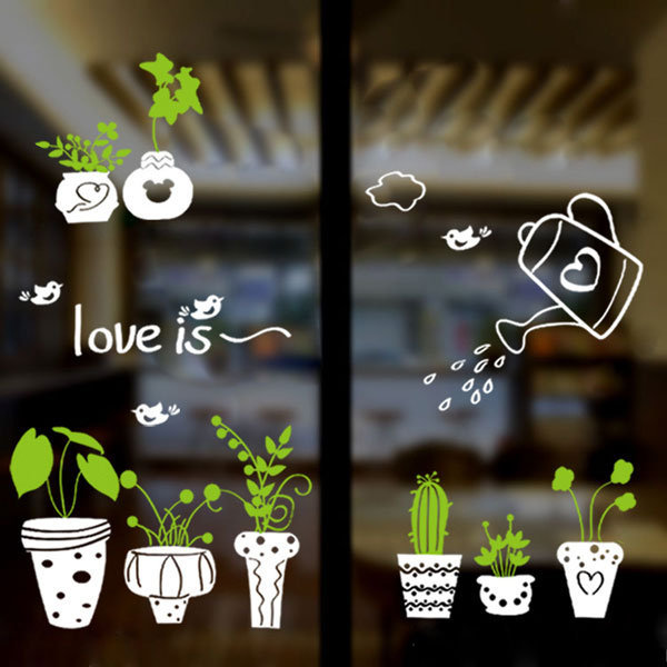 Loxin☆創意可移動壁貼 盆栽【SF0981】可愛壁貼/壁紙/牆貼/背景貼/裝飾佈置/室內設計裝潢/客廳臥室浴室