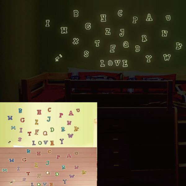 Loxin☆創意可移動夜光壁貼 英文字母【SF0987】DIY組合壁貼/壁紙/牆貼/背景貼/夜光貼/螢光貼/裝飾佈置/室內設計裝潢/客廳臥室浴室
