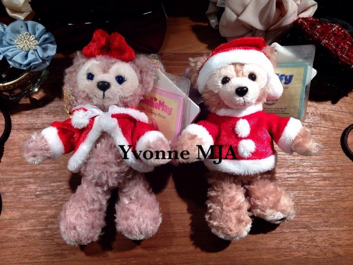 *Yvonne MJA香港代購*香港迪士尼Disney樂園限定正品Duffy達菲雪莉玫絕版聖誕吊飾