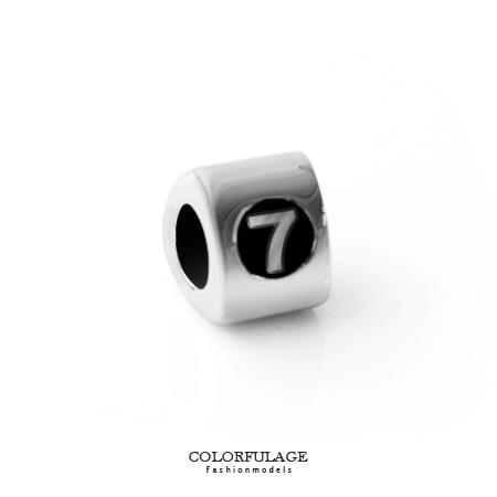 組合字母串珠手鍊 手作搭配組合數字7手環 柒彩年代【NT5】CHARMS