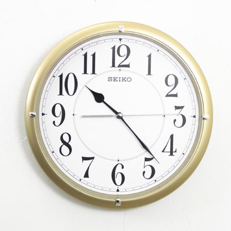 SEIKO精工掛鐘 耀眼時尚金色大數字設計時鐘 滑動式靜音秒針 柒彩年代【NG1718】原廠公司貨