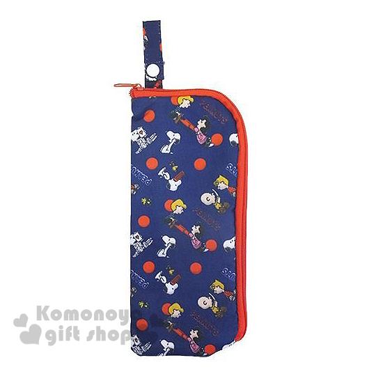 〔小禮堂〕史努比 雨傘收納套《深藍.紅點點.多角色》內裡毛巾材質