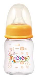 【蜜妮寶貝嬰童用品館】防脹氣果汁小奶瓶 (橘/綠) 型號:BB-15901