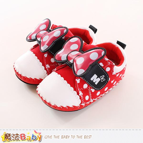 寶寶鞋 迪士尼米妮正版真皮中底專櫃款 魔法Baby~sh9886