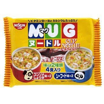 有樂町進口食品 日清 MUG杯仔麵-醬油/海鮮(94g) J65 4902105016084