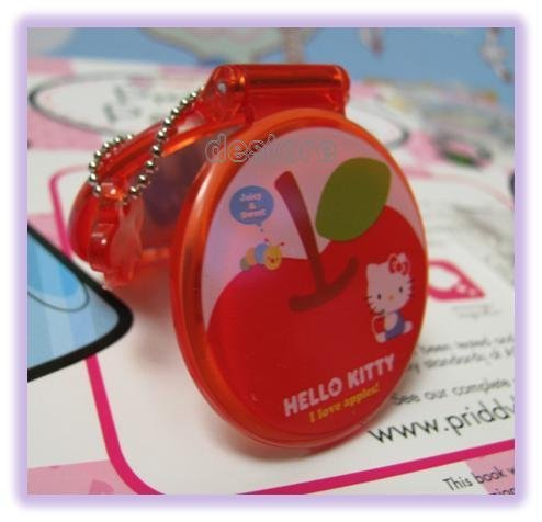 有樂町進口食品 日本 Hello Kitty 娃娃鏡子 手機掛飾鑰匙圈3 號