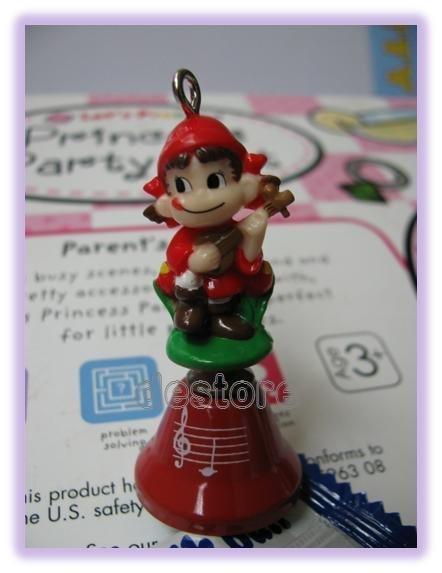 有樂町進口食品 日本Pekuo不二家娃娃鈴鐺 手機掛飾 1號