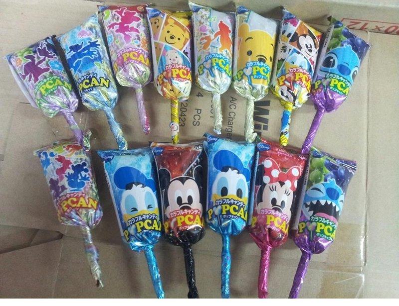 有樂町進口食品 日本 迪士尼 系列 米奇棒棒糖~維妮 米妮 史迪奇 唐老鴨 ~整盒出~同樂會 婚禮小物~一盒30入