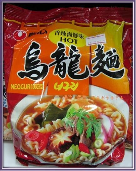 有樂町進口食品 農心香辣海鮮烏龍麵~韓國泡麵浣熊麵 辣味昆布海鮮味