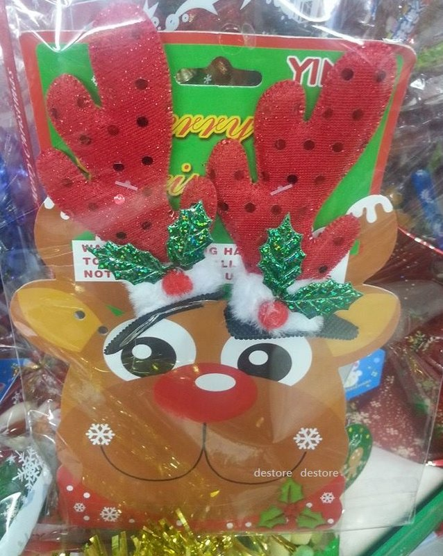 有樂町進口食品 聖誕新款 超可愛聖誕裝飾品 鹿角頭飾 發卡聖誕頭飾裝飾品