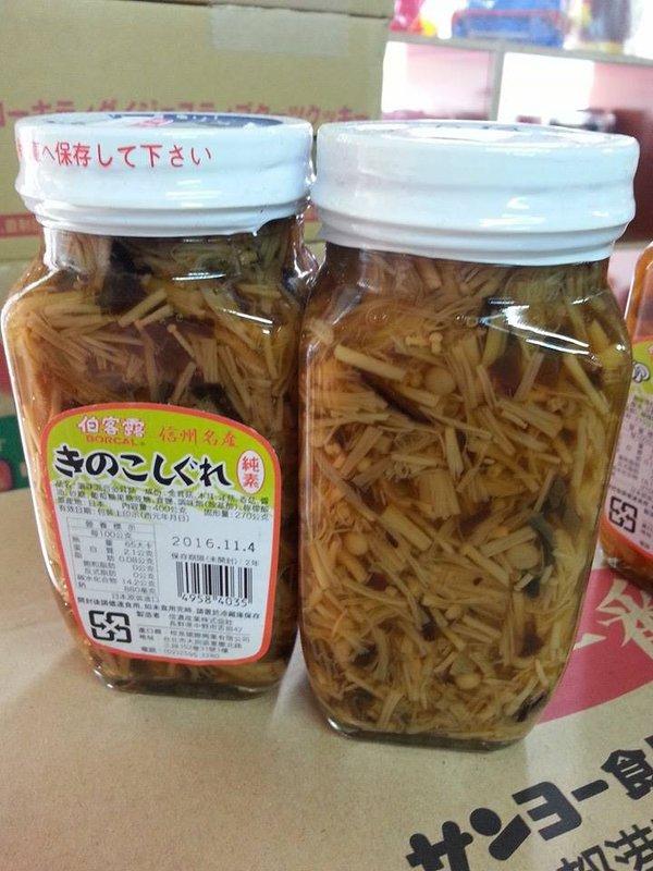 有樂町進口食品 日本 伯可露 金茸罐&黑木耳 什錦風味 金針菇