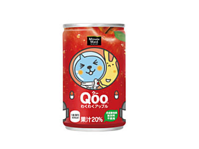 有樂町進口食品 日本 Qoo 酷果汁160cc/罐 蘋果口味 4902102100267