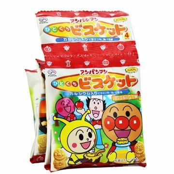 有樂町進口食品 日本 不二家麵包俠四連餅(80g) 麵包超人 1串4包