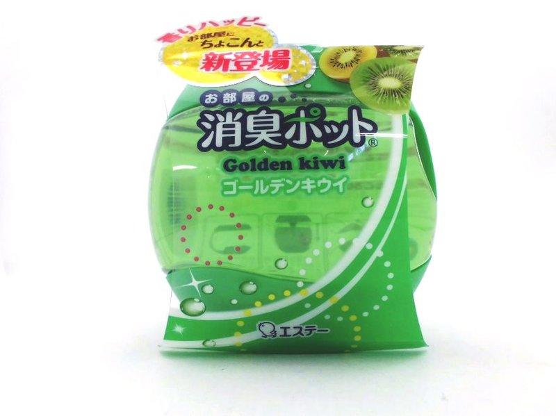 有樂町進口食品 日本製 雞仔牌 愛詩庭 新部屋果凍消臭壺 - 黃金奇異果香 270g 單個售 日本芳香劑 除臭劑