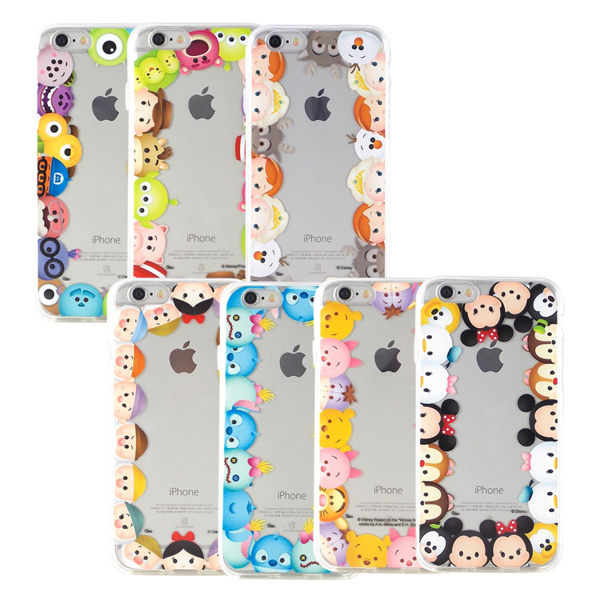 【Disney 】iPhone 6 Plus/6s Plus TSUM TSUM可愛透明保護軟套-繞圈圈