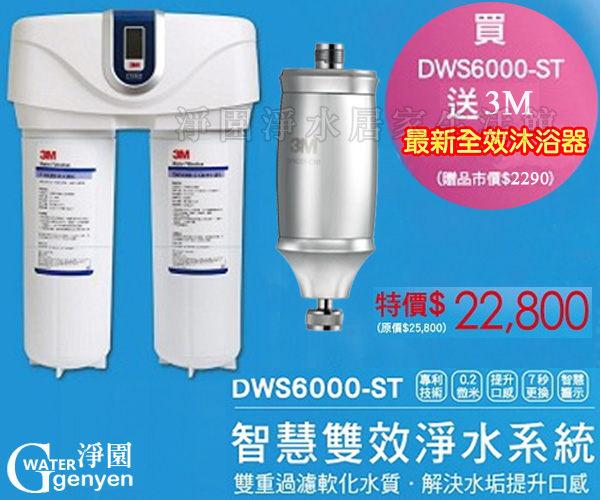 [淨園] 3M DWS6000-ST智慧型雙效淨水系統★加贈3M最新全效沐浴器一個 市價$1990(再享6期0利率)