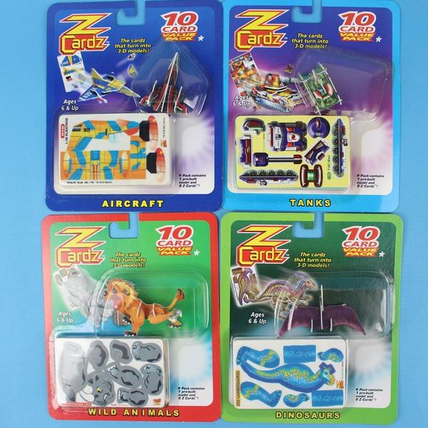 小3D立體拼圖卡 10片入塑料DIY拼裝魔術卡(多款)【一1卡入】(共10款){定30}~發2097920