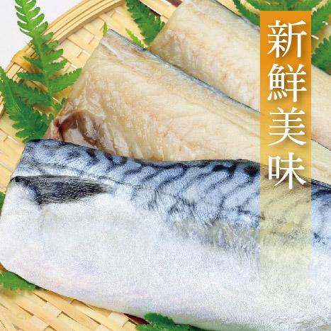 【有魚碼頭】超大size挪威薄鹽鯖魚片×1片組(200g±10%/片)