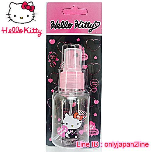 【真愛日本】16101900011噴霧瓶50ML-KT抱抱桃心   三麗鷗 Hello Kitty 凱蒂貓 收納盒/擠壓瓶/噴霧瓶  旅用組