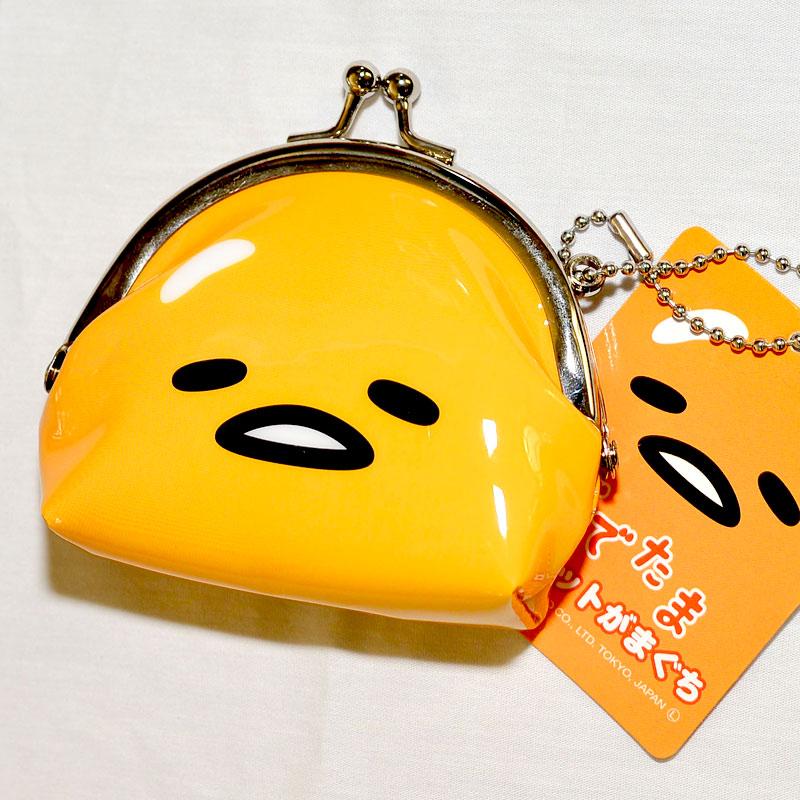 蛋黃哥 零錢包 珠扣 口金包 吊飾 雙面印刷 日本正版商品