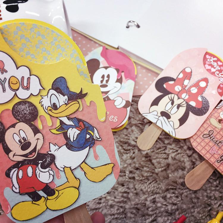 PGS7 (現貨+預購) 日本迪士尼系列商品 - 迪士尼 米奇 冰棒 萬用卡 卡片 生日卡片 感謝卡