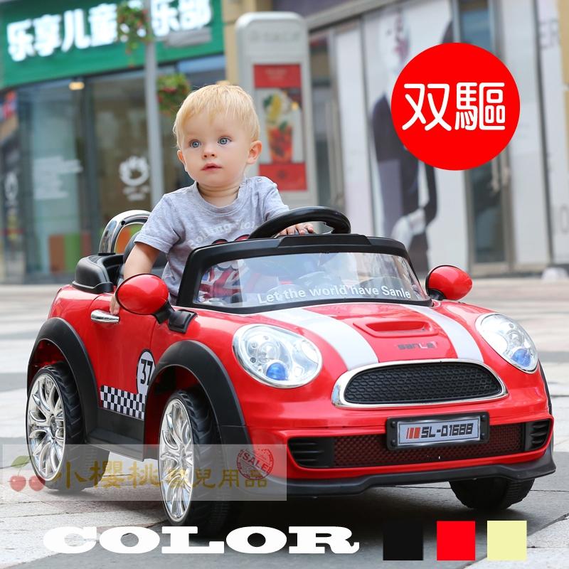 三樂 類MINI COOPER 雙驅 兒童電動車 遙控電動車