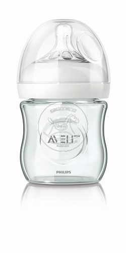 【迷你馬】PHILPS AVENT 親乳感玻璃奶瓶(120ml/4oz)-單入 E65A102001