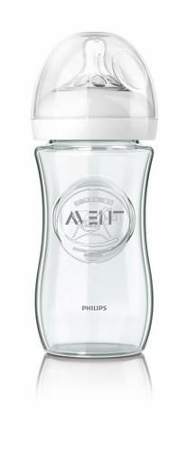 【迷你馬】PHILPS AVENT 親乳感玻璃奶瓶(240ml/9oz)-單入 E65A102002