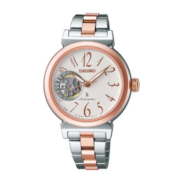 Seiko Lukia  4R38-00N0KS(SSA896J1)雙色優雅機械腕錶/白面34mm
