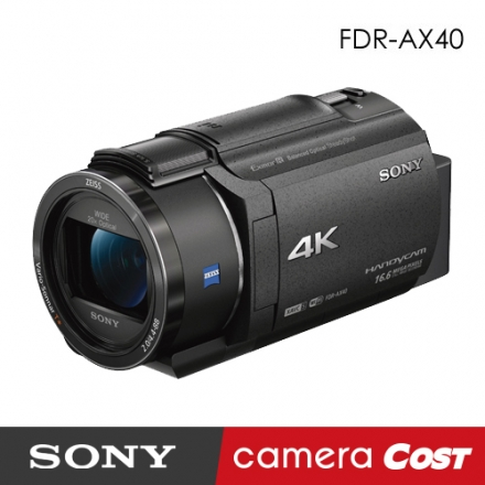 ★64G豪華大全配★【4K高畫質攝影】SONY FDR- AX40 HD 攝影機 公司貨 送64G+電池座充腳架等9好禮 9/18前 贈 NP-FV70 原廠電池