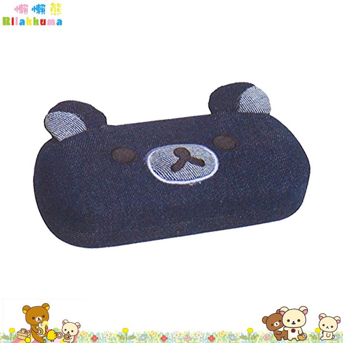 大田倉 日本進口正版 Rilakkuma 懶懶熊 拉拉熊 鬆弛熊 SAN-X 牛仔材質 眼鏡盒 牛仔布 661546