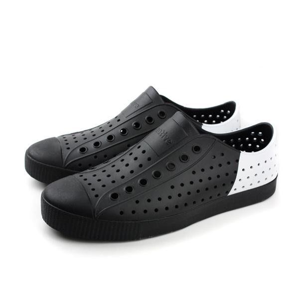 native JEFFERSON 洞洞鞋 男女鞋 黑白色 no512