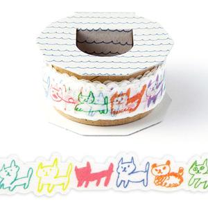 日本 Iroha Publish 紙膠帶 - 13彩色貓咪