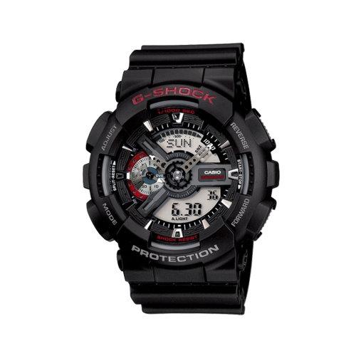 CASIO G-SHOCK/金屬光芒閃耀重機風格雙顯錶/GA-110-1ADR