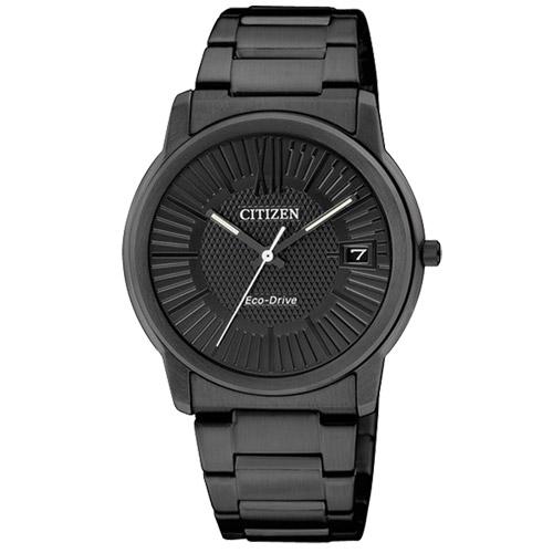 CITIZEN星辰FE6015-56E黑色都會簡約光動能女錶/黑面32mm
